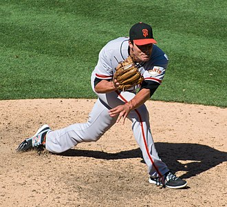 Javier López (baseball) - López with the San Francisco Giants