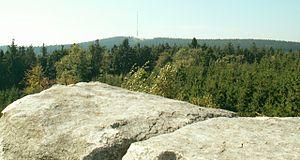 Javořice Highlands (Moravia) - Look from Míchova rocks