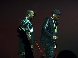 Jay Z e Kanye West durante il tour collaborativo