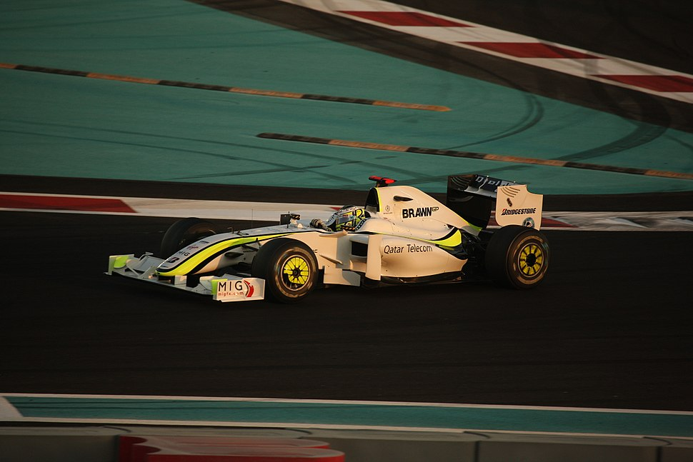 Jenson Button (Brawn BGP 001) on Sunday at 2009 Abu Dhabi Grand Prix