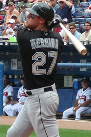 Jeremy Hermida - Hermida batting for the Florida Marlins in 2007.