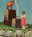 Jeroboam's Idolatry (Bible card) (cropped).jpg