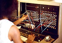 Jersey Telecom switchboard and operator.jpg