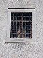 Jesuit church barred window in Veszprémvölgy, Veszprém, 2016 Hungary.jpg