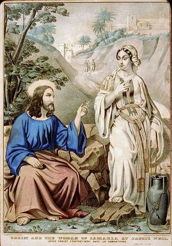 English: Christ and the woman of Samaria at Ja...