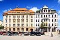 Jihlava, Masarykovo náměstí, pošta a spořitelna.jpg