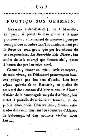affiche Jean-Baptiste Germain