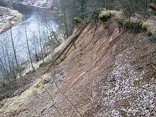 The river Jura. Jociai outcorp