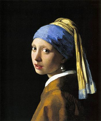 Johannes Vermeer - Girl with a Pearl Earring -...