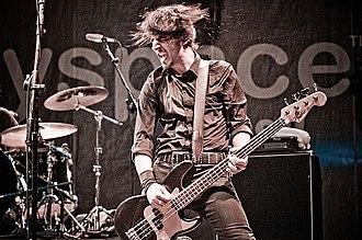 Danko Jones - Bass player John Calabrese, live 2008.