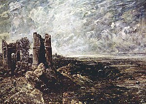 1829 in art - Constable – Hadleigh Castle