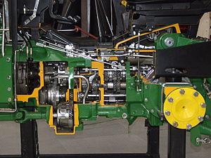 John Deere 3350 tractor cut in Technikmuseum S...