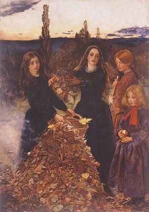 """""""Φθινοπωρινά φύλλα"""". Πίνακας του Τζων Έβερετ Μιλαί (1856, Πινακοθήκη Τέχνης - Μάντσεστερ)."""