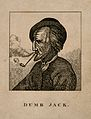 John Gale, known as Dumb Jack, a deaf mute. Etching. Wellcome V0007323.jpg