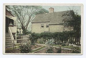 Jabez Howland House - Image: John Howland Plymouth Mass 1666 postcard