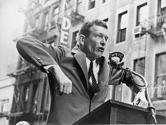 John Lindsay - Lindsay speaking at a senior citizens rally in October 1965