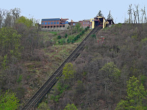 Johnstown Inclined Plane - The upper station has an observation deck and visitor center / restaurant adjacent to it