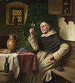 Josef Wagner-Höhenberg Mönch bei der Weinprobe.jpg