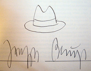 Joseph Beuys' signature. Photographed from a b...