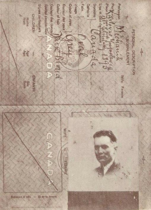 Josip Broz Tito's fake Canadian ID, 1939