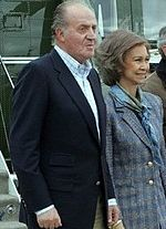 Juan Carlos and his wife, Sofía.