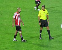 Veron Roberto Rosetti Right During The  Fifa Club World Cup