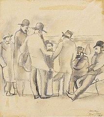 Group of Men, New York