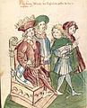 König Albrecht schickt wegen seiner Kaiserkrönung einen Boten zu Papst Bonifatius.jpg