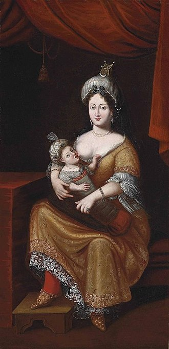 Kösem Sultan - Kösem Sultan and her son