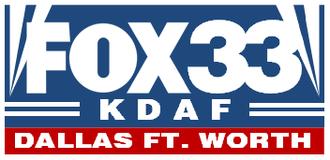 KDAF - Former KDAF logo, used from September 1993 to June 30, 1995 under Fox ownership.