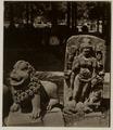KITLV 28220 - Isidore van Kinsbergen - Sculpture of a Singa (lion) and Durga at Yogyakarta - 1865-07-1865-09.tif
