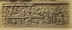KITLV 40066 - Kassian Céphas - Relief of the hidden base of Borobudur - 1890-1891.jpg