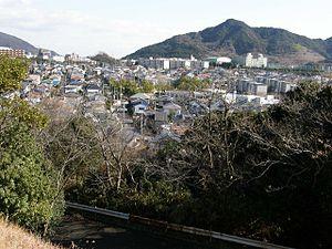 事件が発生した神戸市須磨区のベッドタウン(「タンク山」から望む)
