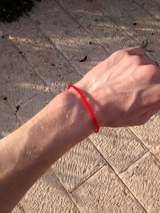 Red string (Kabbalah) - Red string from near the Western Wall in Jerusalem