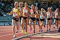 Kalevan Kisat 2018 - Women's 5000 m - Johanna Peiponen, Alisa Vainio, Kristiina Mäki, Janica Rauma, Moona Korkealaakso, Klaara Leponiemi, Salla Laukkanen, Suvi Selvenius.jpg