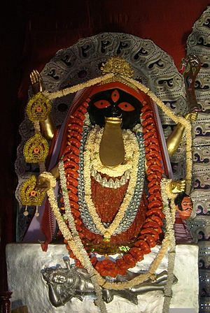 Kalighat Kali Temple - Replica of the Kalighat Kali icon.