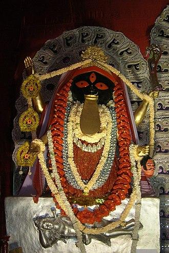 Kalighat Kali Temple - Replica of the Kalighat Kali icon.
