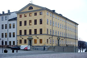 Supreme Administrative Court of Sweden - Kammarrättens hus (yellow) and the Sparre Palace (white) is the seat of the Supreme Administrative Court of Sweden.