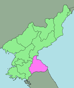 Location of Kangwon Province