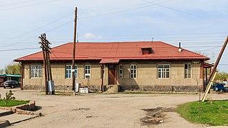 Kant, Kyrgyzstan - Image: Kant near Bishkek 03 2016 img 04 railway station