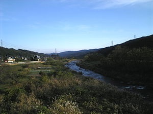 Karasu River (Gunma) - The Karasu River flowing through Takasaki