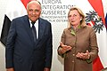 Karin Kneissl welcomes her Egyptian counterpart Sameh Shoukry - 2018 (42339624925).jpg