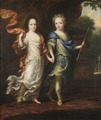 Karl XII, 1682-1718, konung av Sverige, pfalzgreve av Zweibrücken och Hedvig Sofia, 1681-1708 - Nationalmuseum - 15000.tif