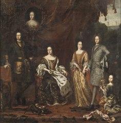 Karl XI konung av Sverige med familj