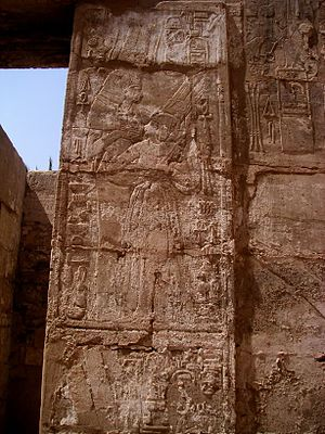 Shepenupet I - Shepenupet I at Karnak.