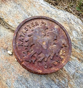 Cadastre - Cadastre survey marker from the South Tyrol's mountains, 2018