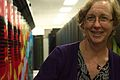 Kathy Yelick in front of Hopper Cray XE6.jpg