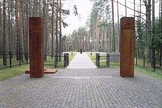 Polish military cemetery in the village of Katyn, Smolensk Oblast, Russia