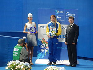 Sarah Sjöström - WR award in Kazan 2015