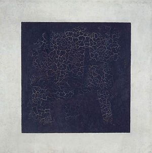 Minimalism - Kazimir Malevich, Black Square, 1915, 79.5 x 79.5 cm, oil on canvas, Tretyakov Gallery, Moscow